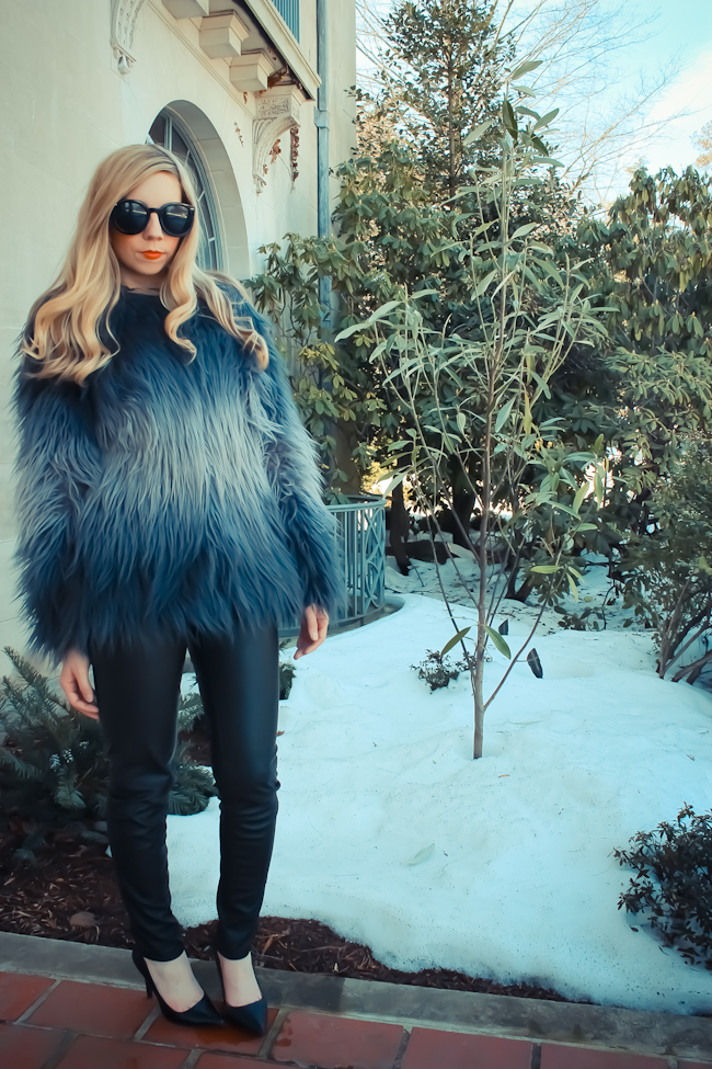 ombre fur coat