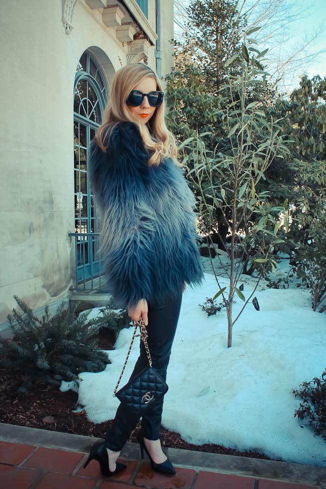 ombre fur coat